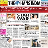 Read today The Hans India Newspaper